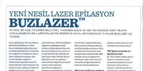 New Beauty Buz Lazer Epilasyon Haberi